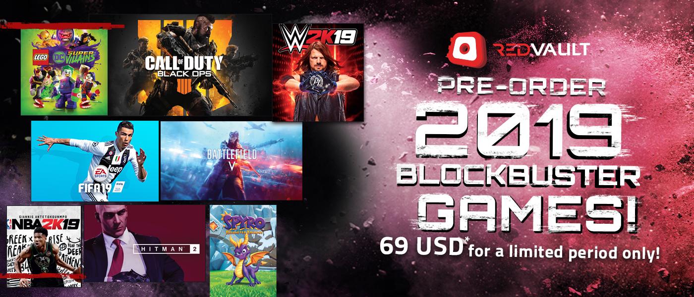 Pre-Order 2019 Blockbuster Games!